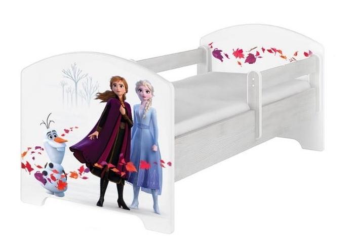 BabyBoo Dětská postel 140 x 70cm Disney - Frozen, bílá, norská sosna - 140x70