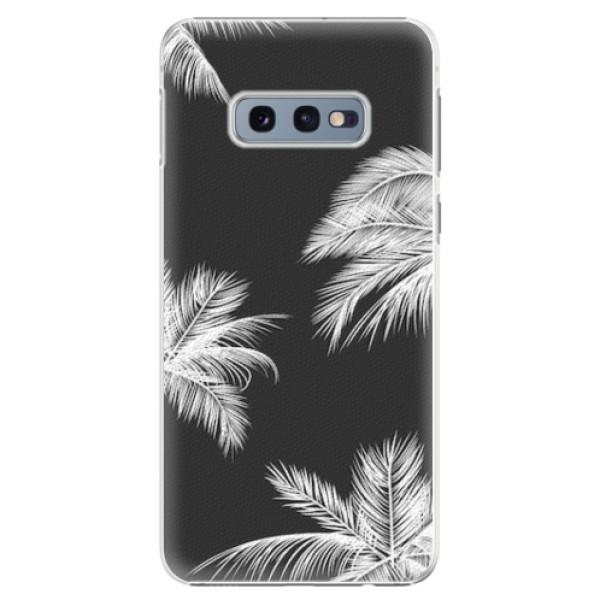 Plastové pouzdro iSaprio - White Palm - Samsung Galaxy S10e