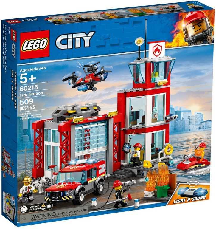 LEGO CITY Hasičská stanice 60215 STAVEBNICE