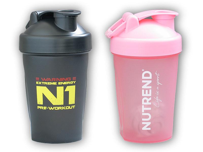 Shaker Nutrend 400ml - šejkr na - nápoje-ruzovy-life-is-a-sport