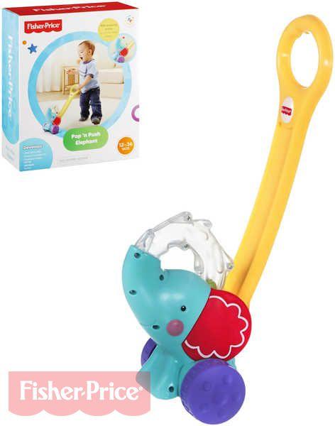 FISHER PRICE Slon jezdící s míčky chodítko