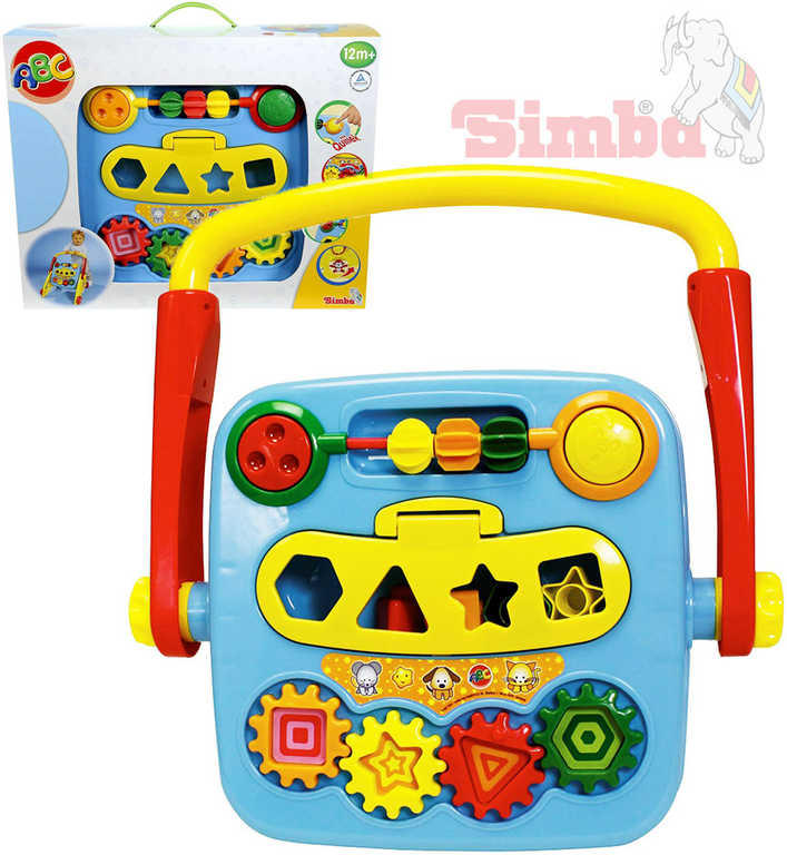SIMBA Baby set 4v1 multifunkční chodítko hrací strojek vkládačka pro miminko