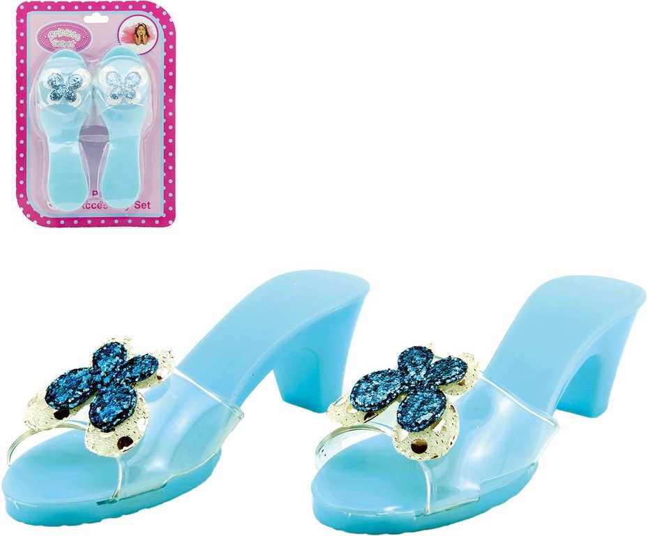 KARNEVAL Střevíčky modré pro zimní princeznu KARNEVALOVÝ DOPLNĚK
