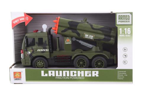 Vojenské auto s raketami