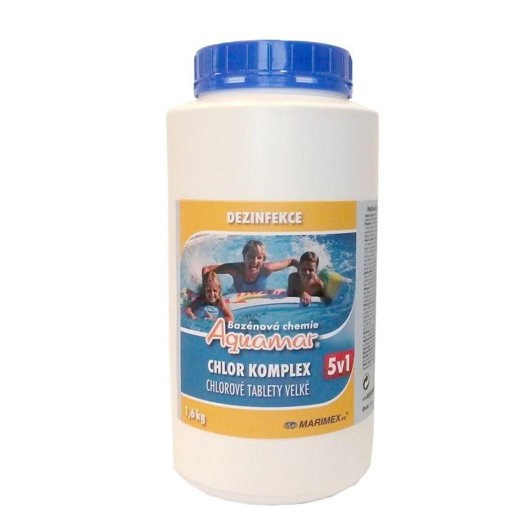 Bazénová chemie AquaMar Komplex 5v1 1,6 kg