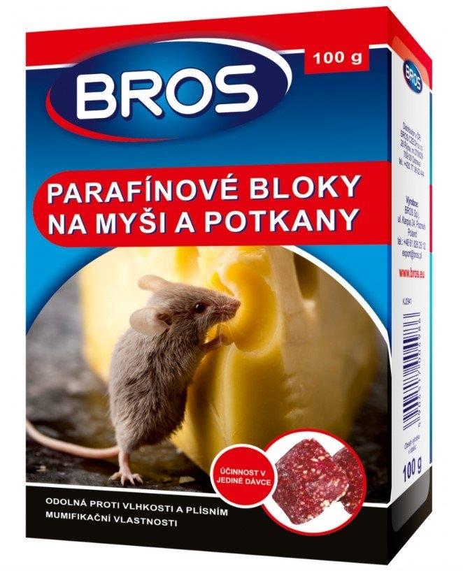 Parafínové bloky na myši, krysy a potkany, 100 g