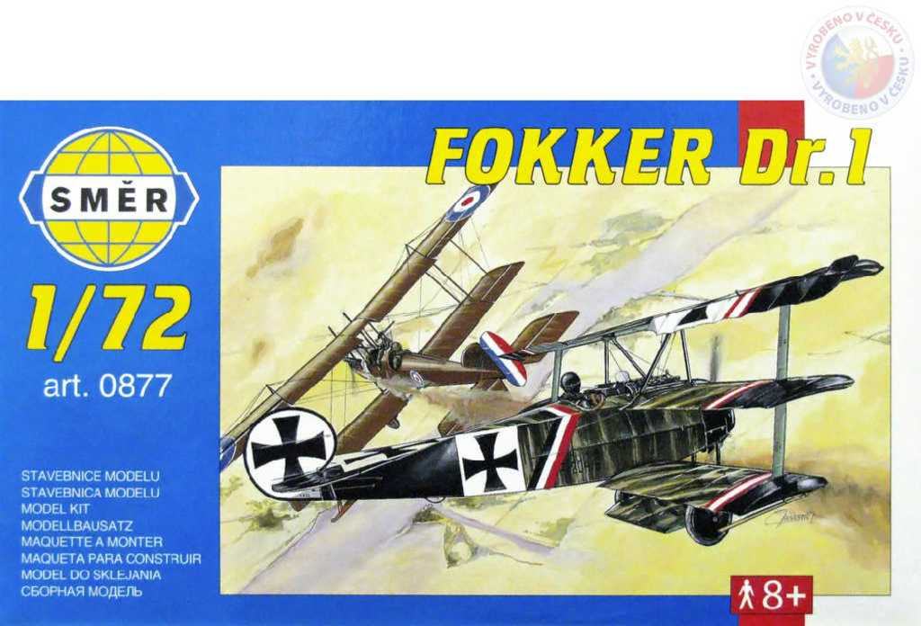 SMĚR Model letadlo Fokker Dr.I 1:72 (stavebnice letadla)