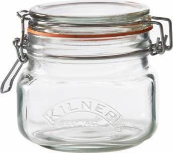 KILNER zavařovací sklenice s klipem hranatá 0,5l