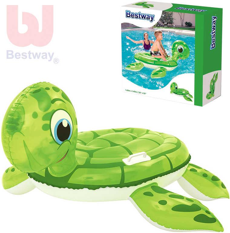BESTWAY Želva nafukovací 140x140cm dětské plavidlo s úchyty na vodu
