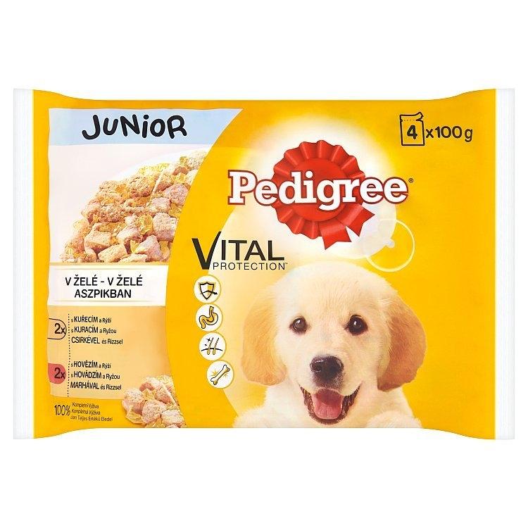 Vital Protection Junior výběr ve šťávě kuřecí & hovězí 4x100 g, 400 g