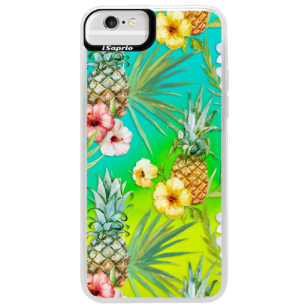 Neonové pouzdro Blue iSaprio - Pineapple Pattern 02 - iPhone 6 Plus/6S Plus