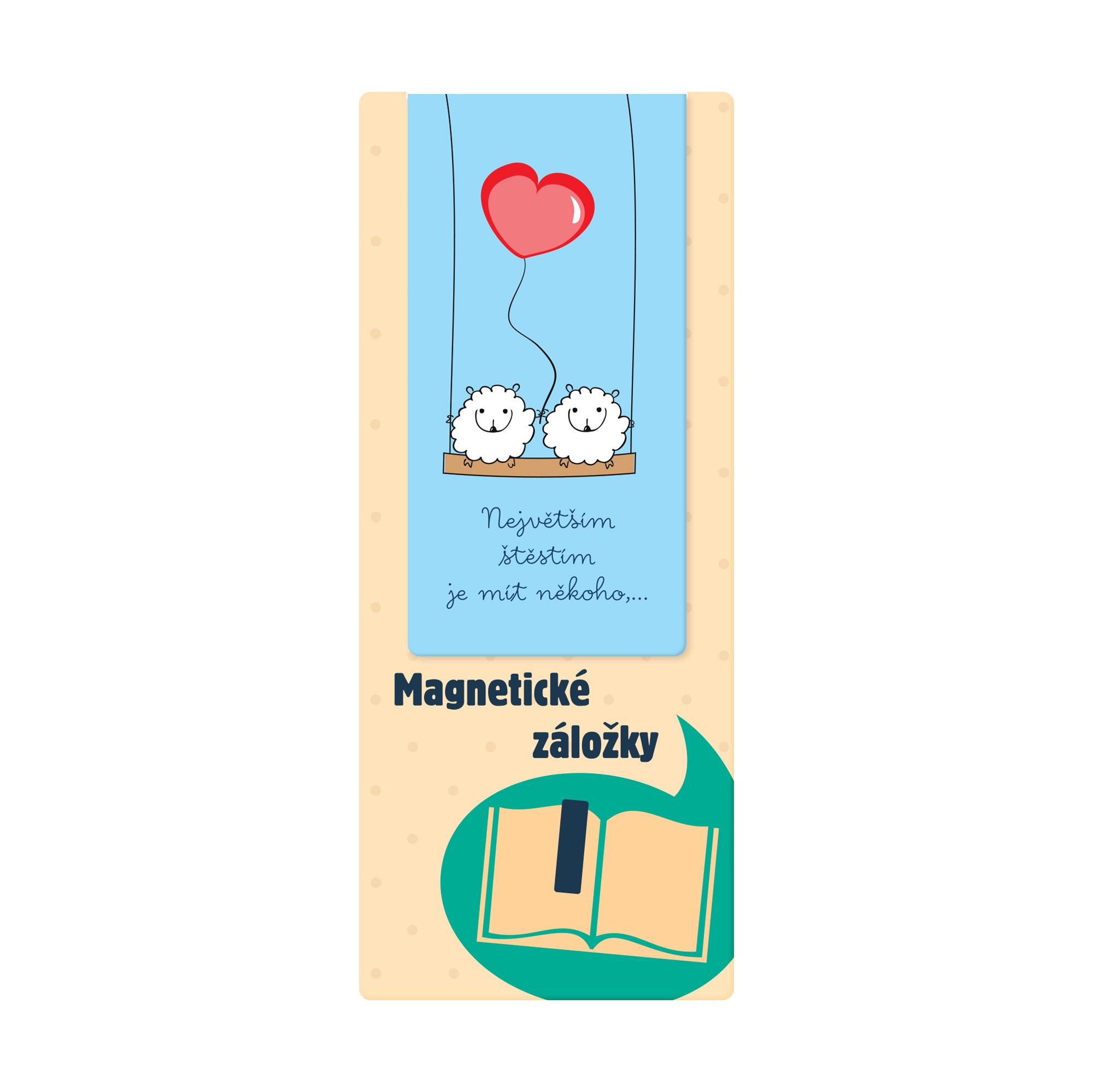 Magnetická záložka - Ovečky