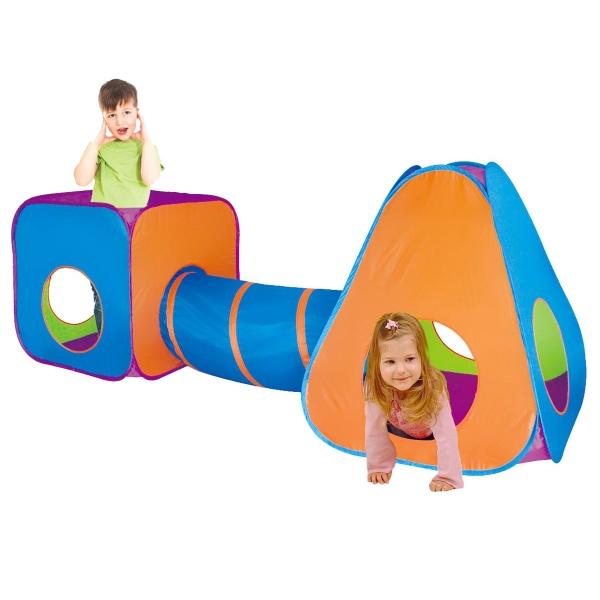 Dětský stan s tunelem 3v1