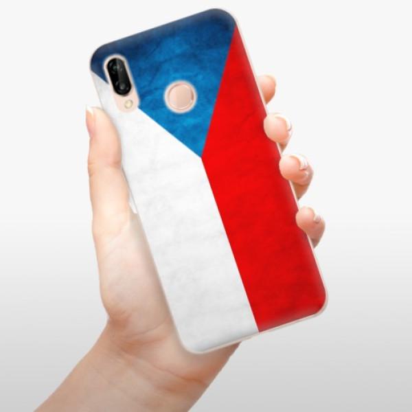 Odolné silikonové pouzdro iSaprio - Czech Flag - Huawei P20 Lite