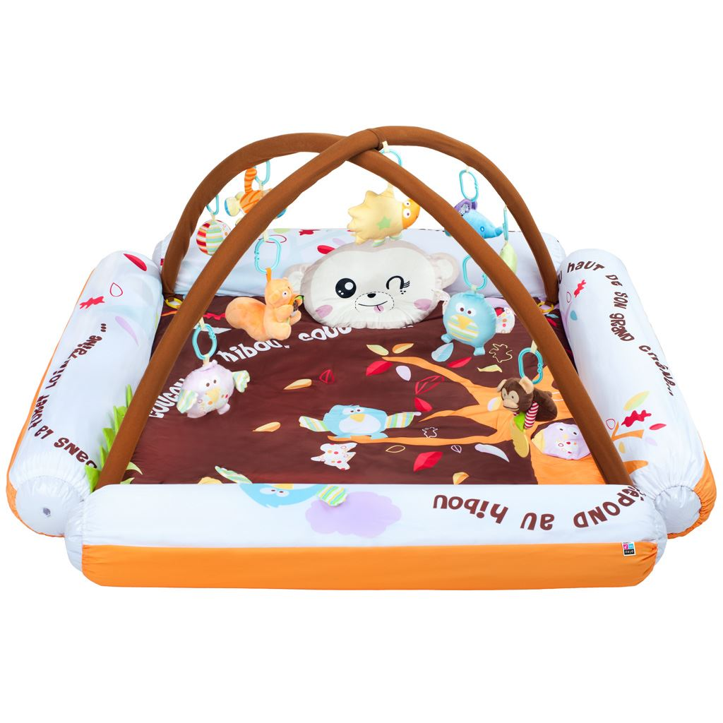Hrací deka s melodií PlayTo Air - hnědá