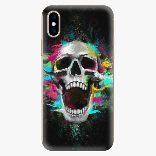 Plastový kryt iSaprio - Skull in Colors - iPhone XS