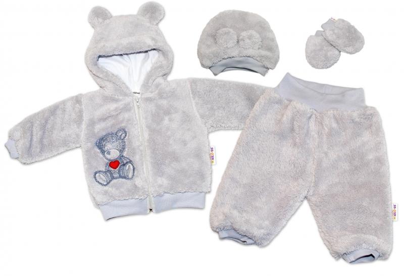 baby-nellys-chlupackovy-komplet-welsoft-teddy-vel-74-sedy-74-6-9m
