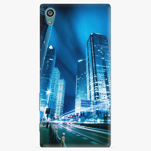 Plastový kryt iSaprio - Night City Blue - Sony Xperia Z5