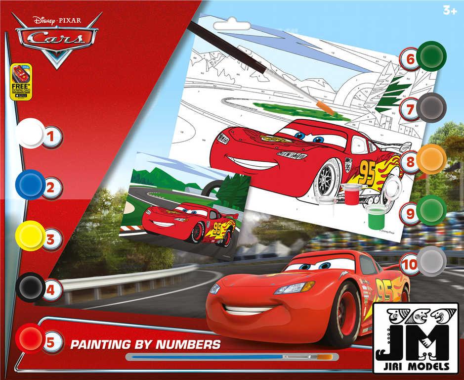 JIRI MODELS Malování podle čísel A3 Cars (Auta) set s barvičkami