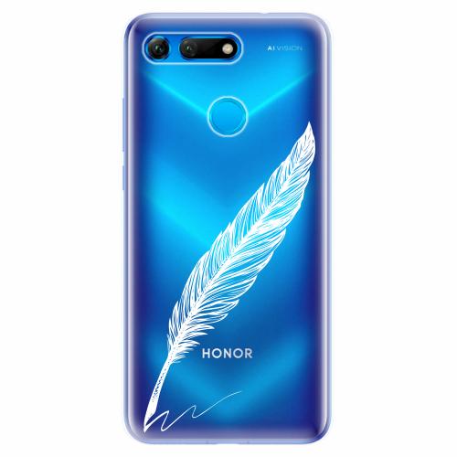 Silikonové pouzdro iSaprio - Writing By Feather - white - Huawei Honor View 20
