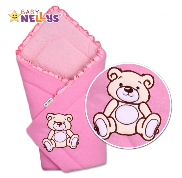 baby-nellys-zavinovacka-teddy-bear-jersey-ruzova