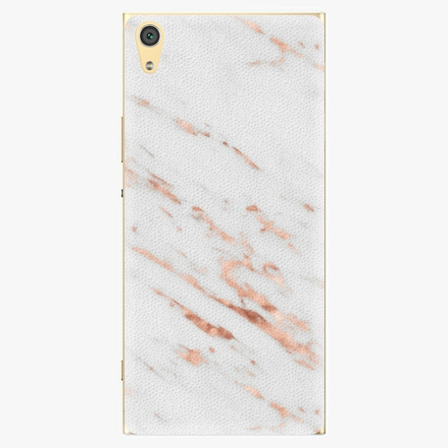 Plastový kryt iSaprio - Rose Gold Marble - Sony Xperia XA1 Ultra