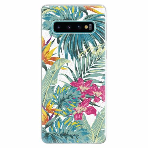 Silikonové pouzdro iSaprio - Tropical White 03 - Samsung Galaxy S10