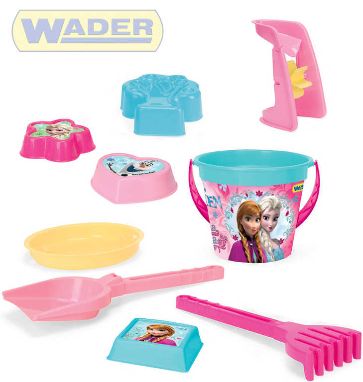 WADER Set na písek 9ks Ledové Království kyblík s mlýnkem a doplňky plast