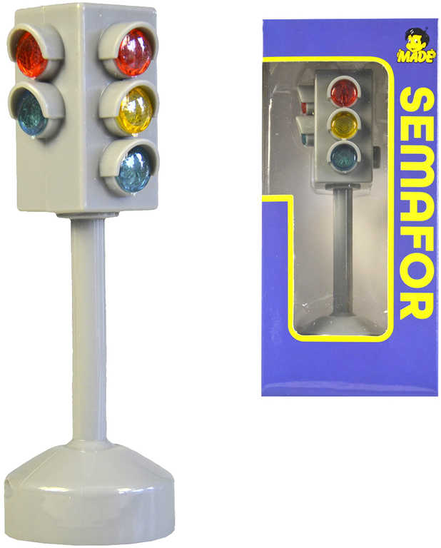 City Collection semafor na baterie plastový 12cm Světlo Zvuk v krabici