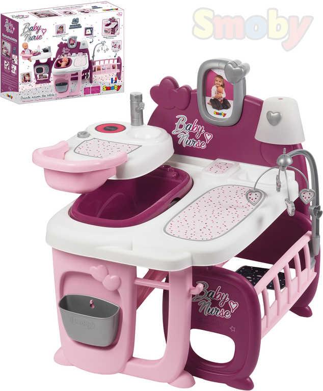 SMOBY Baby Nurse domeček pro panenky 3v1 herní set s doplňky 23ks plast