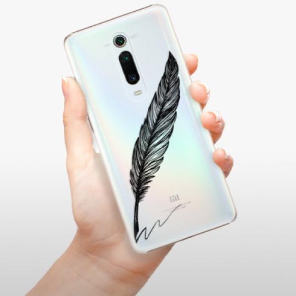 Plastové pouzdro iSaprio - Writing By Feather - black - Xiaomi Mi 9T Pro