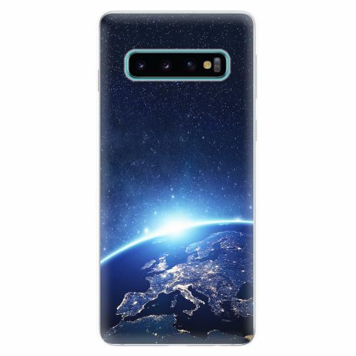 Silikonové pouzdro iSaprio - Earth at Night - Samsung Galaxy S10