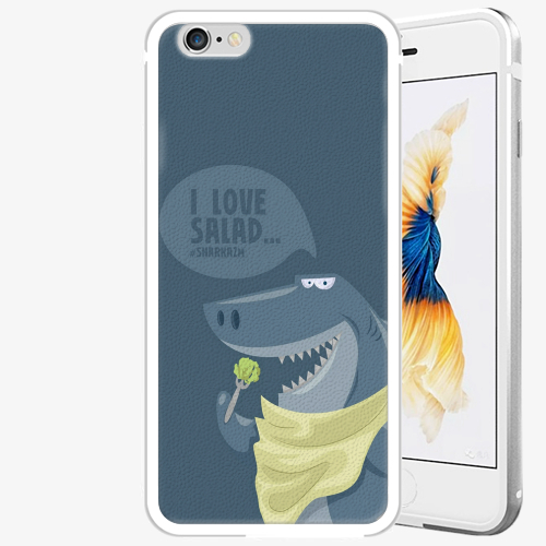 Plastový kryt iSaprio - Love Salad - iPhone 6 Plus/6S Plus - Silver