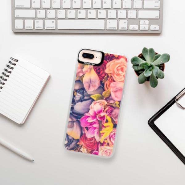 Neonové pouzdro Pink iSaprio - Beauty Flowers - iPhone 8 Plus