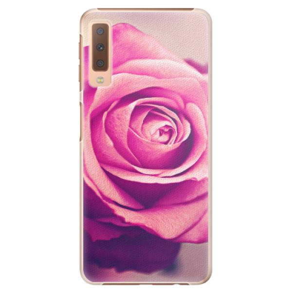 Plastové pouzdro iSaprio - Pink Rose - Samsung Galaxy A7 (2018)