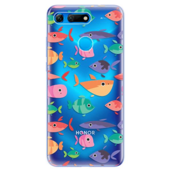 Odolné silikonové pouzdro iSaprio - Fish pattern 01 - Huawei Honor View 20
