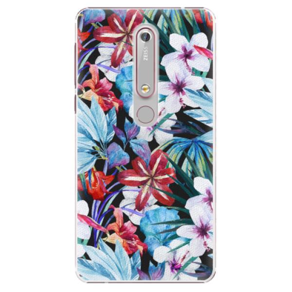 Plastové pouzdro iSaprio - Tropical Flowers 05 - Nokia 6.1