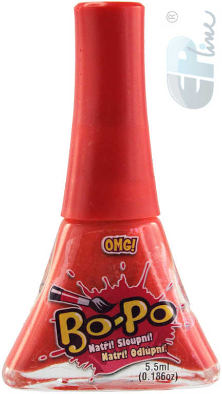 EP line BO-PO Lak na nehty dětský červený OMG! 5,5ml na kartě
