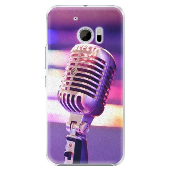 Plastové pouzdro iSaprio - Vintage Microphone - HTC 10