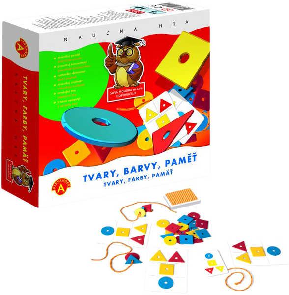 Tvary Barvy Paměť hra naučná v krabici *SPOLEČENSKÉ HRY*