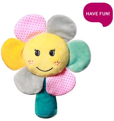 Plyšová hračka s chrastítkem Rainbow Flower