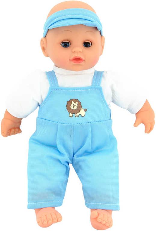 Miminko měkké tělo 27cm panenka v oblečku 2 barvy v sáčku