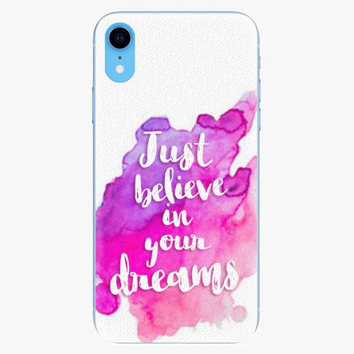 Silikonové pouzdro iSaprio - Believe - iPhone XR