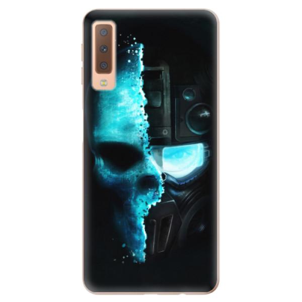 Odolné silikonové pouzdro iSaprio - Roboskull - Samsung Galaxy A7 (2018)