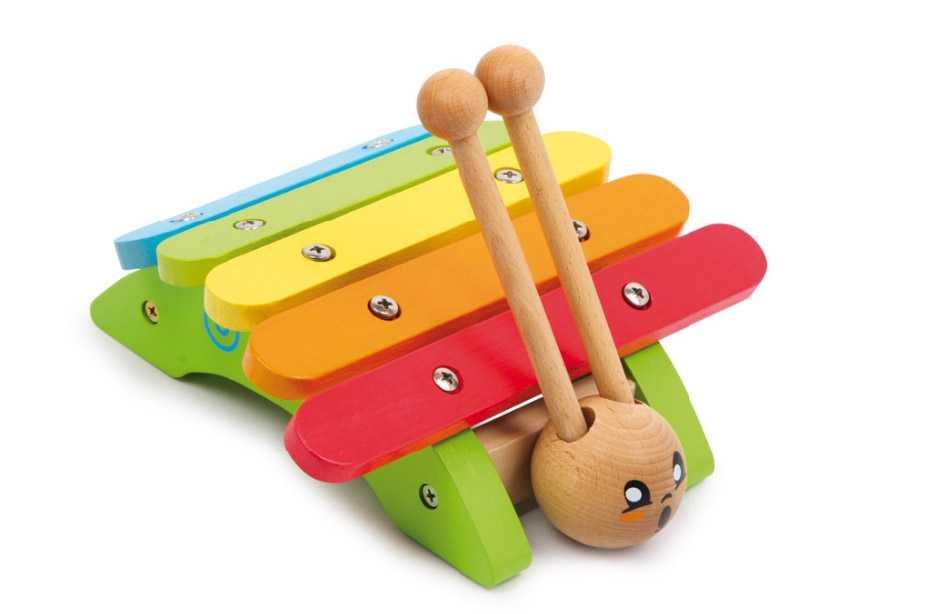 Small Foot Dětské hudební nástroje xylofon šnek