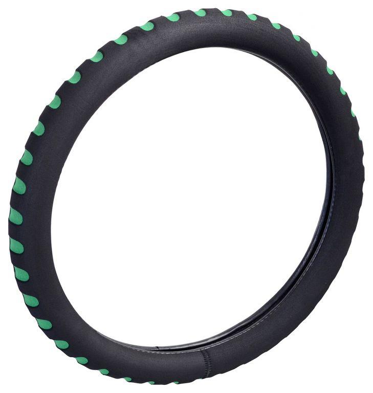 Potah volantu SOFT - zelený/černý