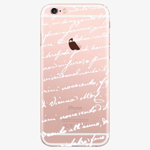 Silikonové pouzdro iSaprio - Handwriting 01 - white - iPhone 7