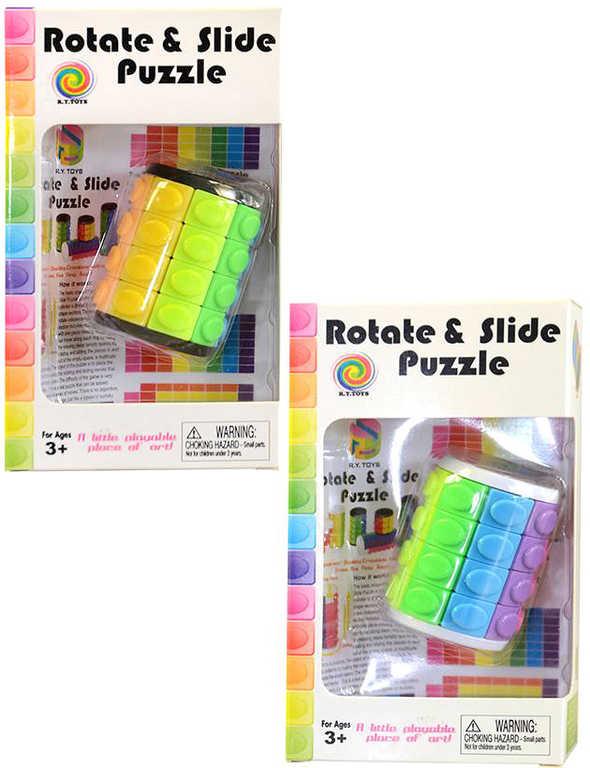 Hra hlavolam puzzle válec magický 2 barvy plast