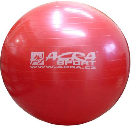 ACRA Míč gymnastický červený 75cm fitness balon rehabilitační do 150kg
