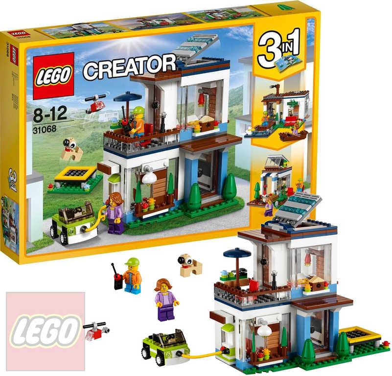 LEGO CREATOR Modulární moderní bydlení 3v1 31068 STAVEBNICE